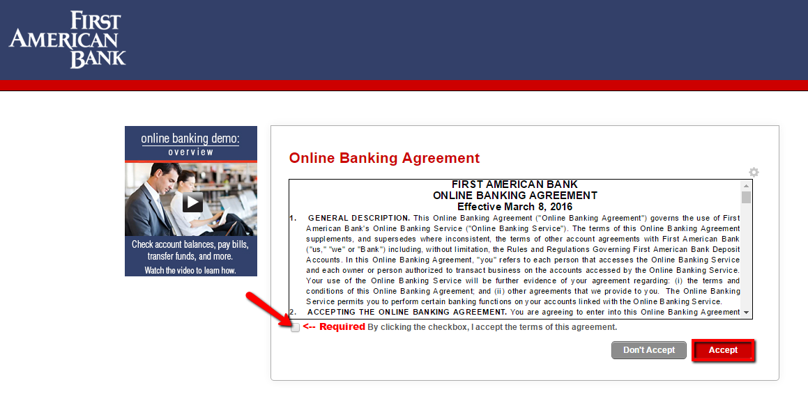 Bank of America  Online Banking  Service Agreement