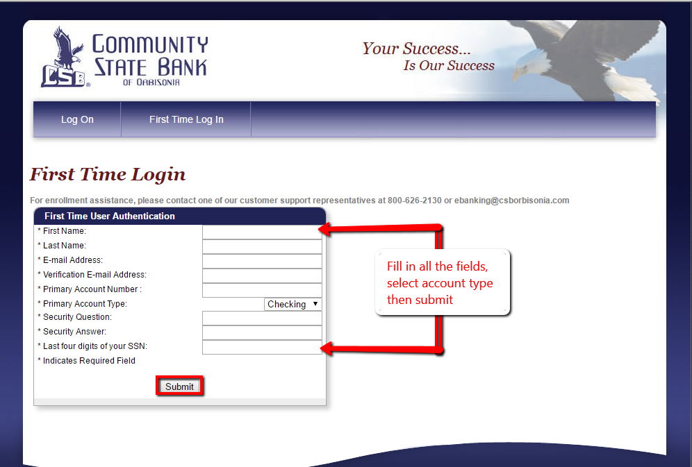 Community State Bank Of Orbisonia Online Banking Login