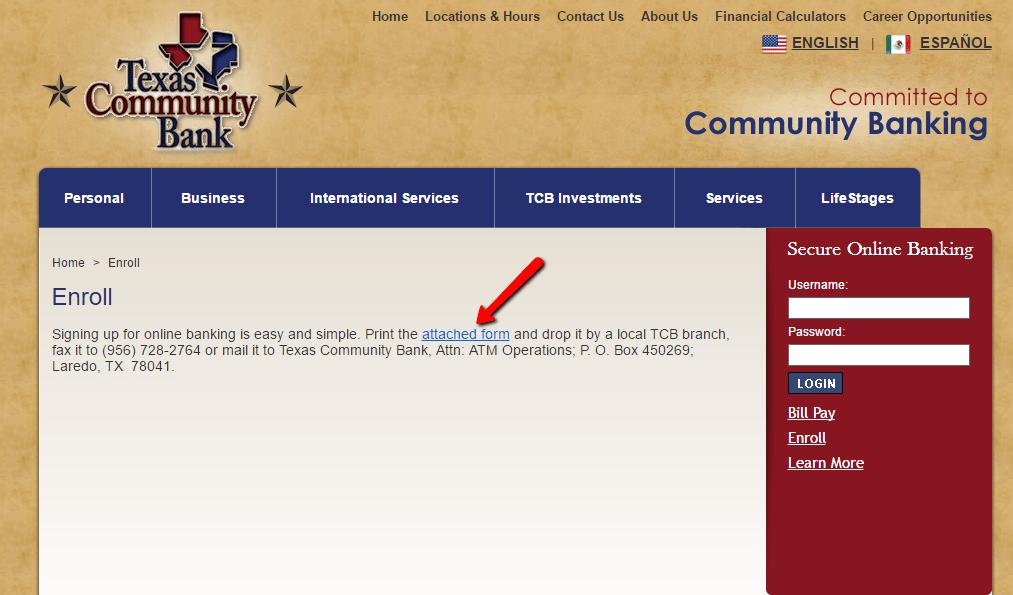 Texas Community Bank Online Banking Login
