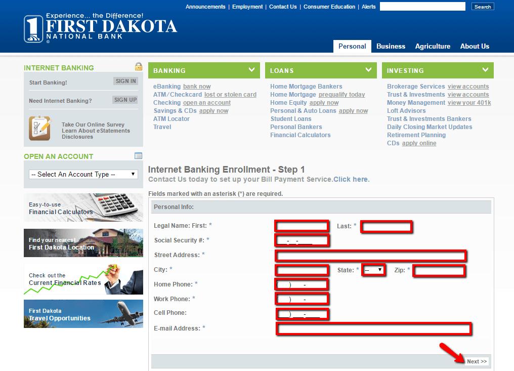 First Dakota National Bank Online Banking Login - CC Bank