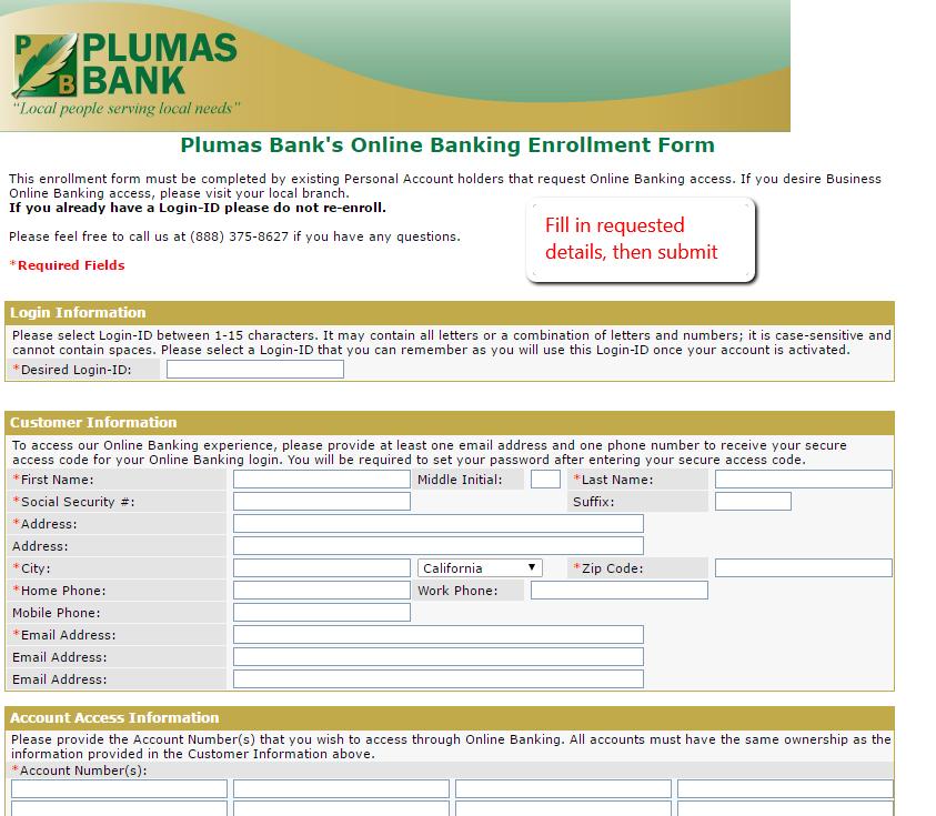 Plumas Bank Online Banking Login
