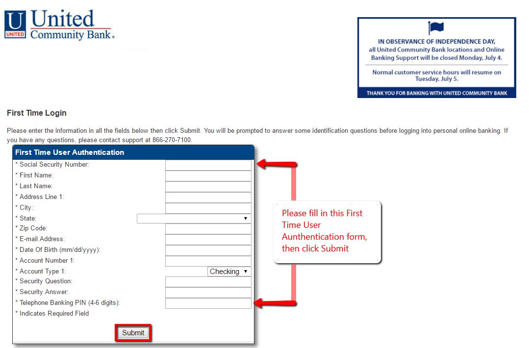United Community Bank Online Banking Login