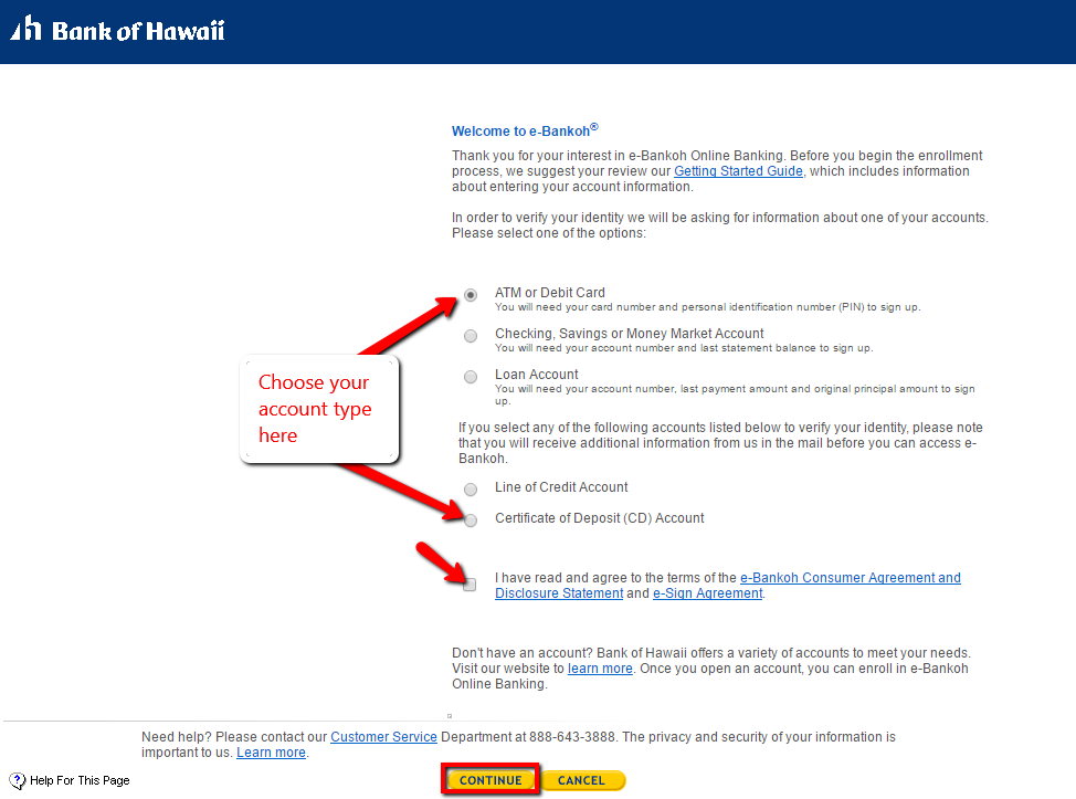 bank of hawaii online banking login learn more