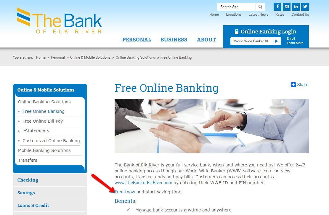 The Bank of Elk River Online Banking Login - CC Bank