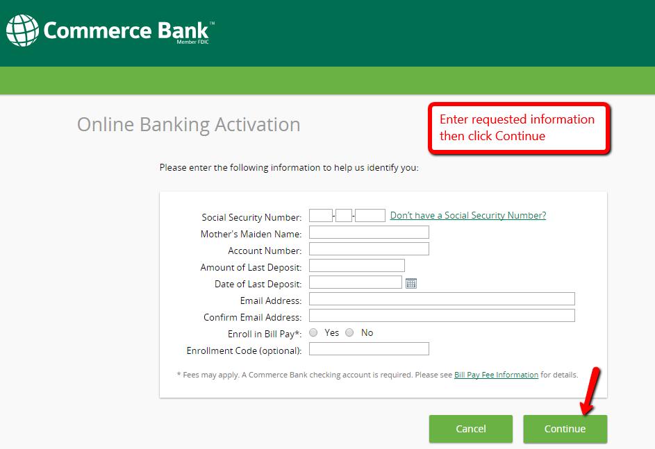 Commerce Bank Online Banking Login