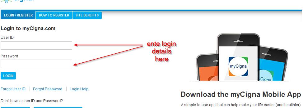 enter login details here