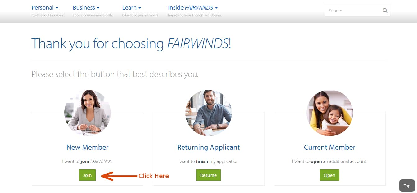 how to find fairwinds account number online