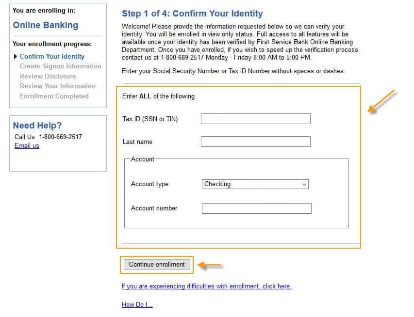 first-bank-enroll-form