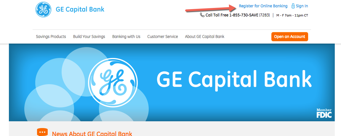GE Capital Bank Online Banking Login -