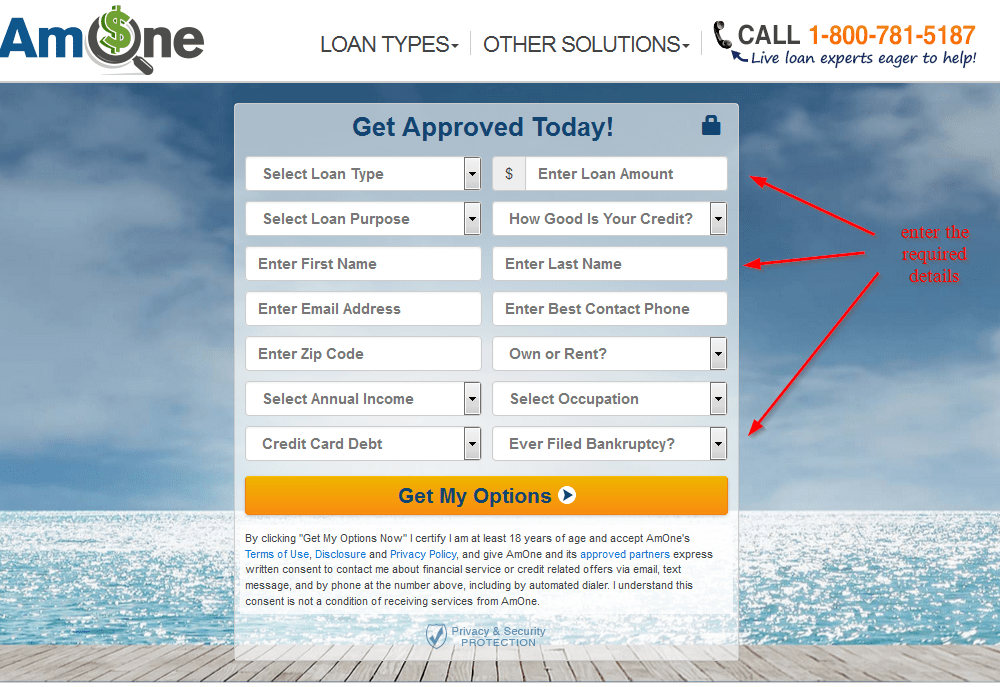 get approval today with AmOne
