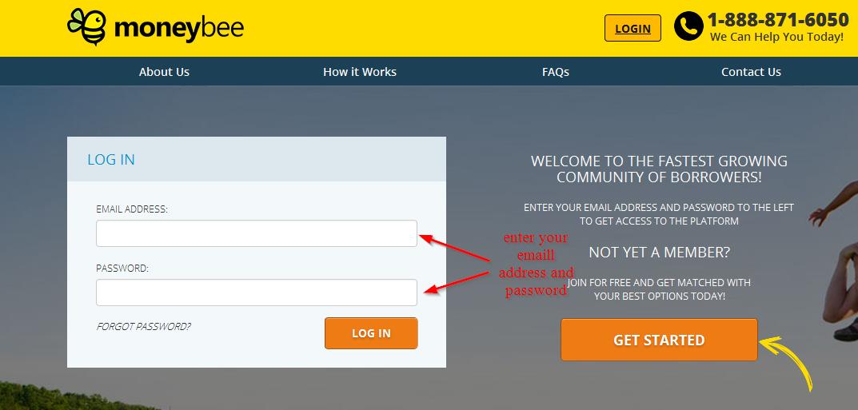 Moneybee com login