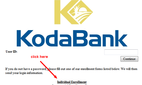 koda bank enrollment