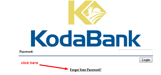 kodabank reset password