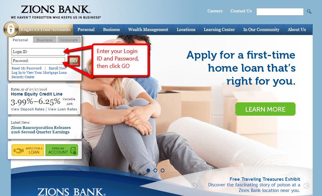 Zions Bank Online Banking Login