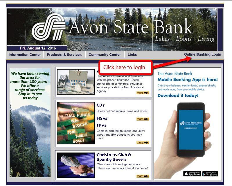Avon State Bank Online Banking Login - 🌎 CC Bank