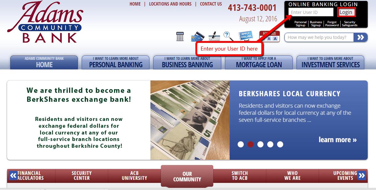 Adams Community Bank Online Banking Login