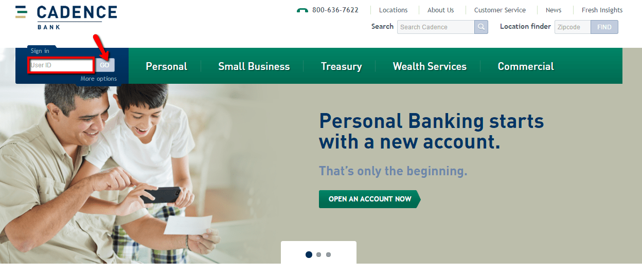 Cadence Bank Online Login