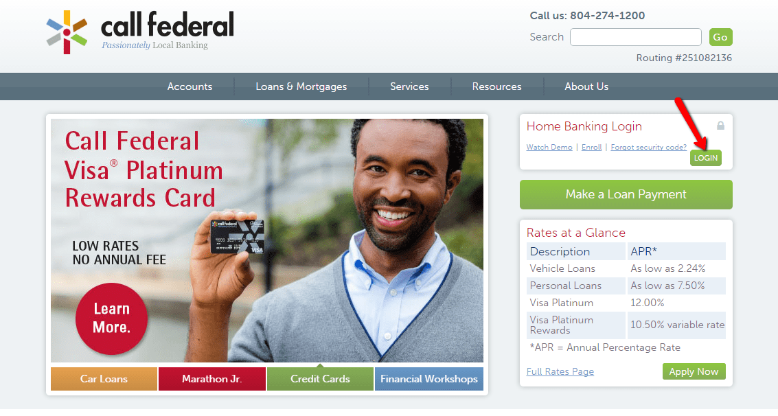 Call Federal Credit Union Online Login