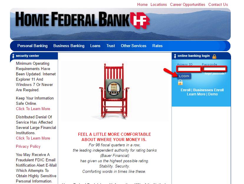 Home Federal Bank Online Banking Login