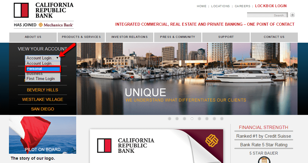 California Republic Bank Online Login