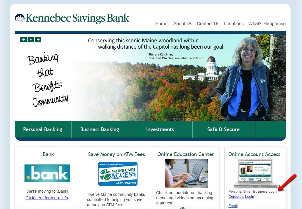 Kennebec Savings Bank Online Banking Login