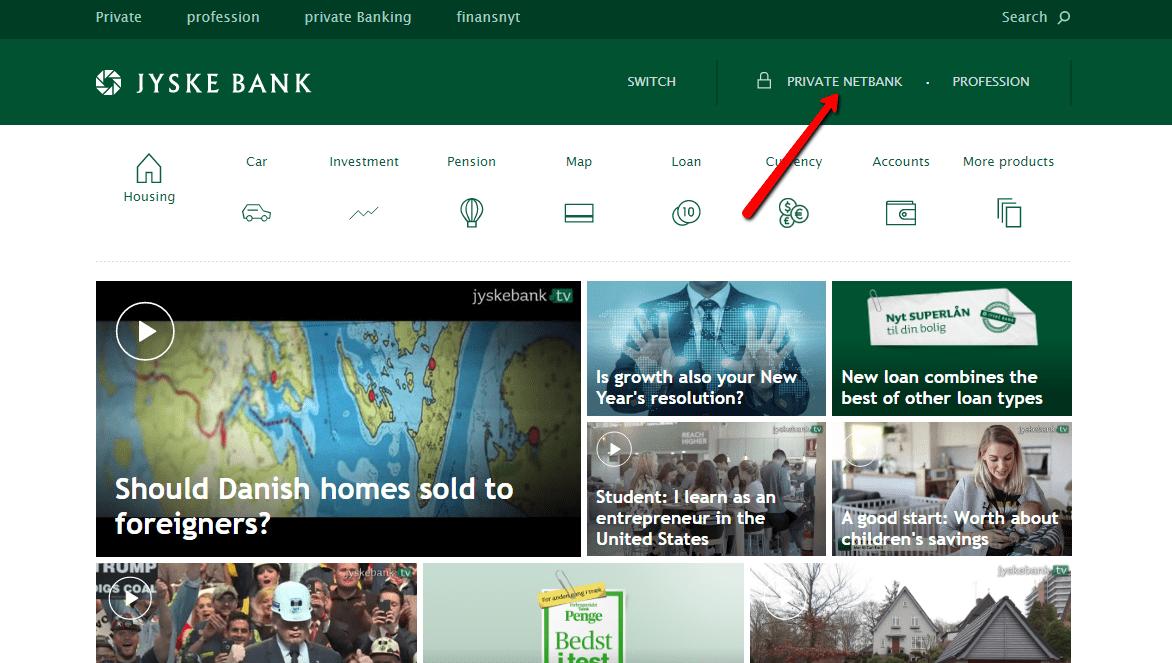 Jyske Bank Online Banking Login - CC Bank