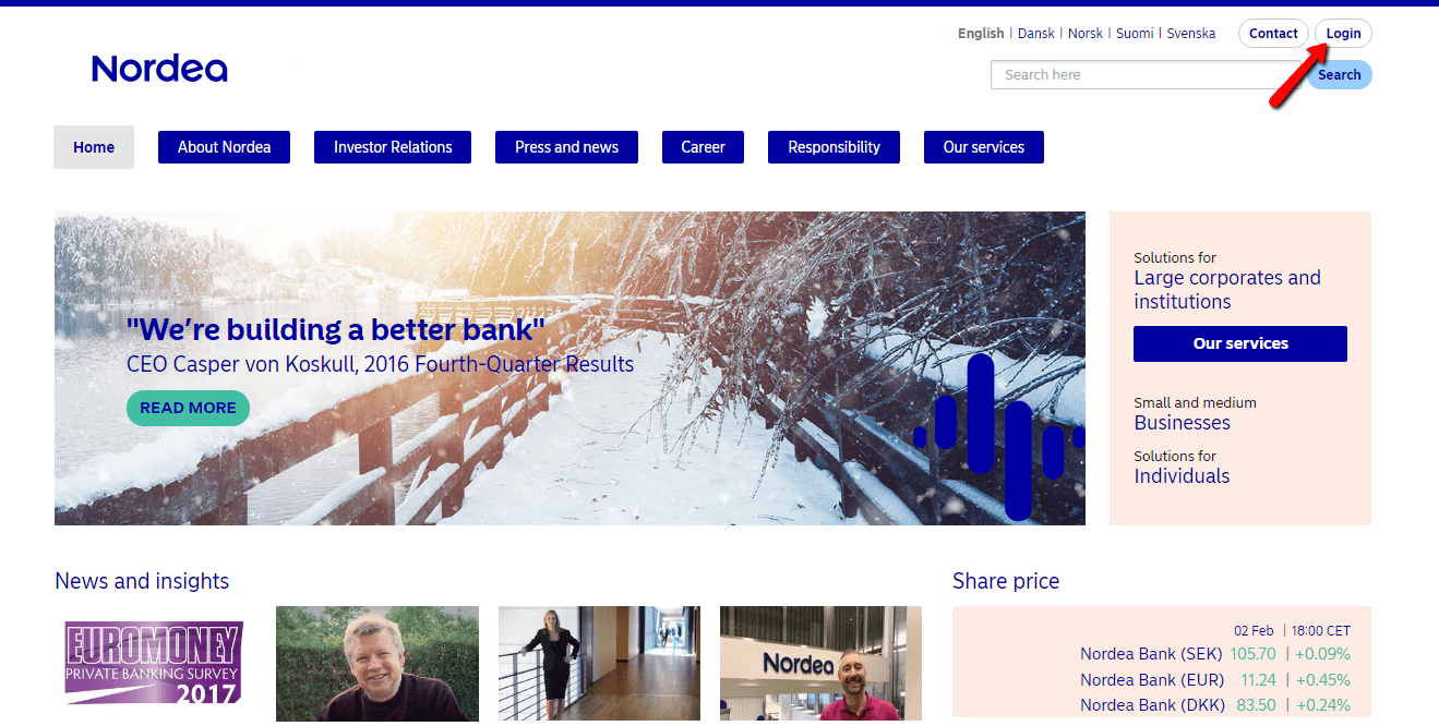 Nordea Online Banking Login - CC Bank