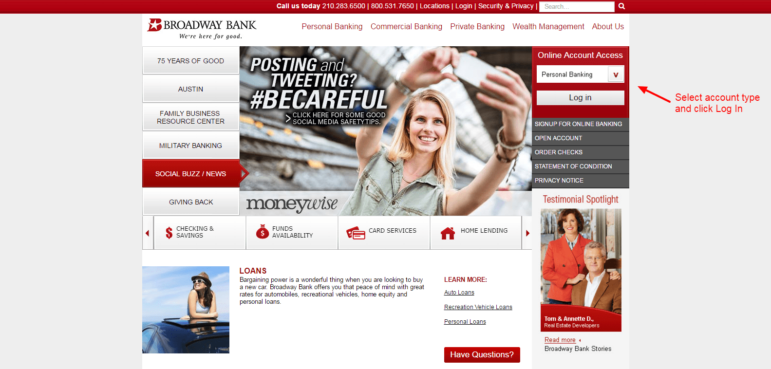 login Broadway Bank