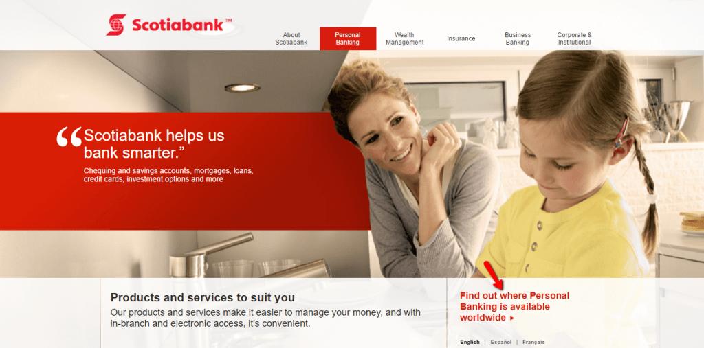 Scotiabank business model yahoo password