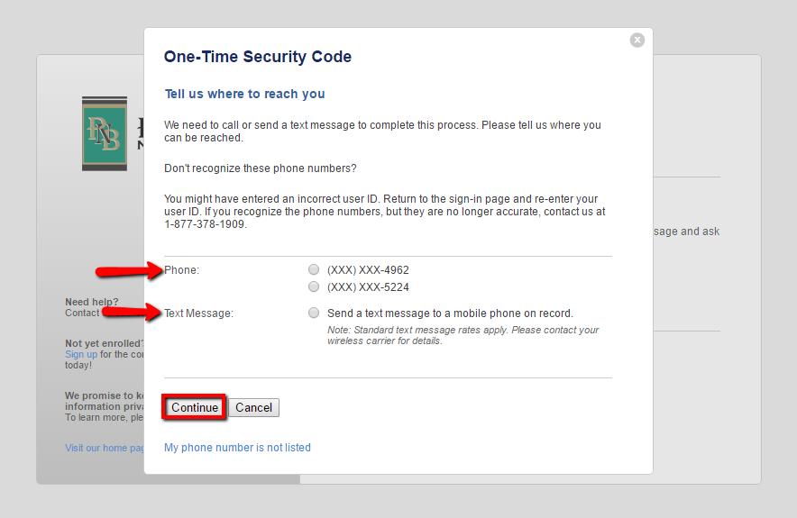 bank login peoples banking national code receive security via