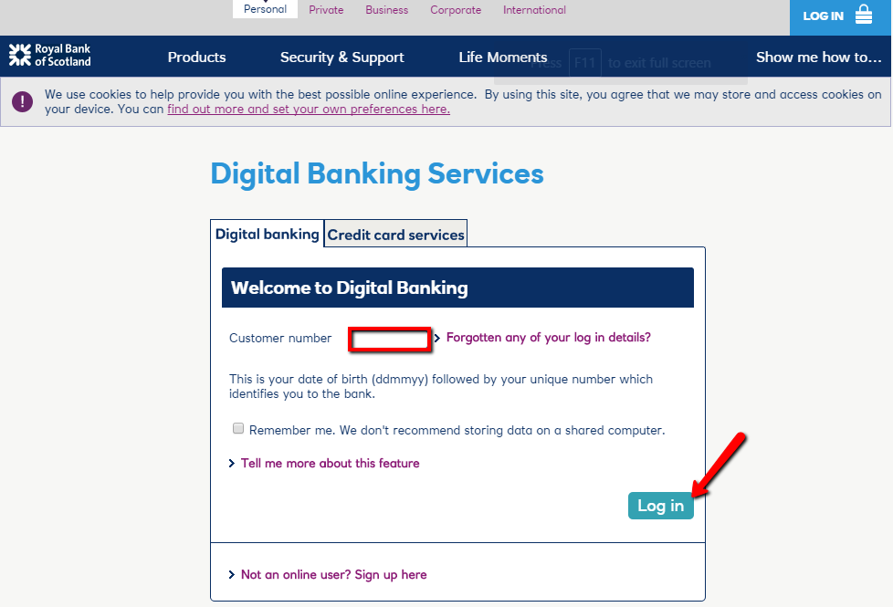Royal Bank of Scotland (RBS) Online Banking Login - 🌎 CC Bank