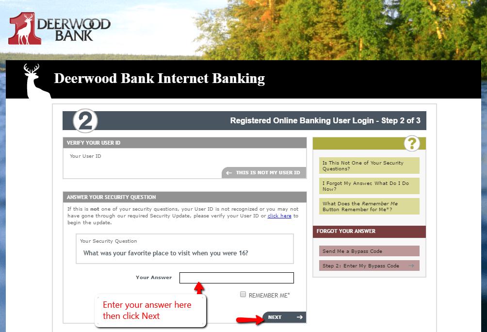 Deerwood Bank Online Banking Login