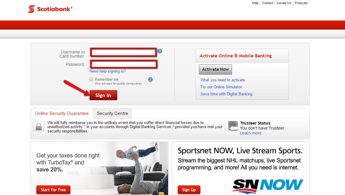 Scotiabank (BNS) Online Banking Login - 🌎 CC Bank