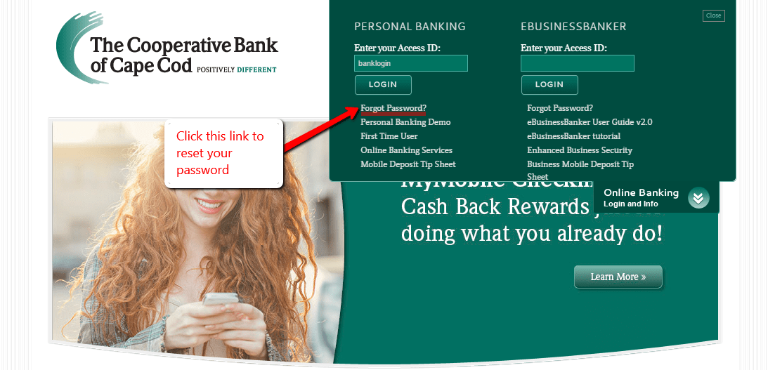 cooperative bank of cape cod login