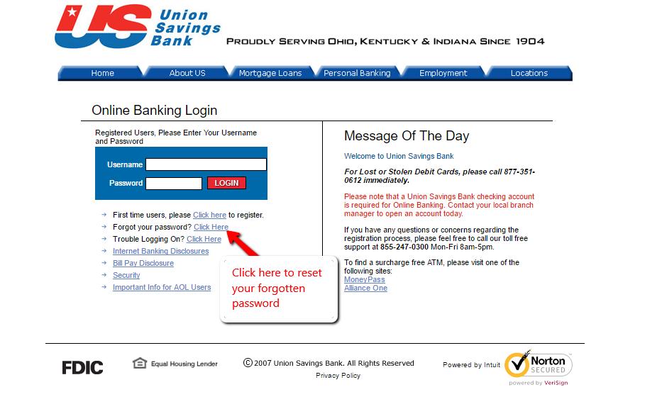 Union Savings Bank Online Banking Login