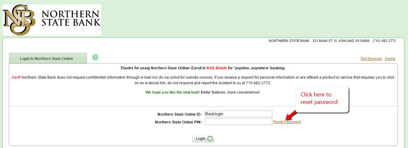 Northern State Bank Online Banking Login - 🌎 CC Bank