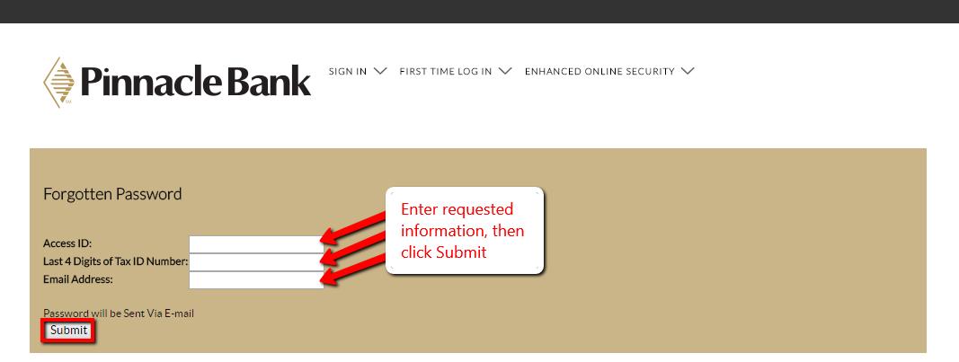 pinnacle bank online