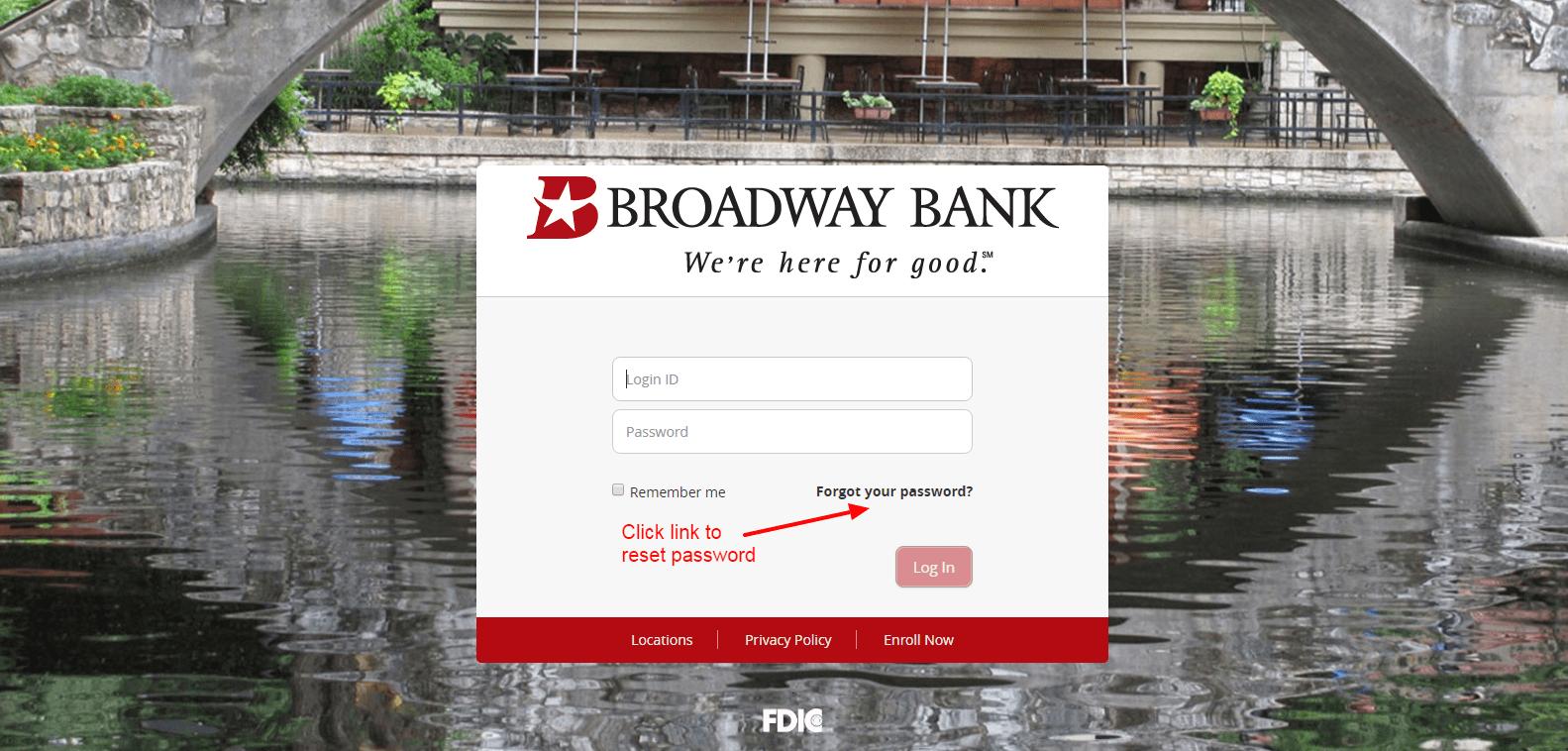 reset Broadway Bank
