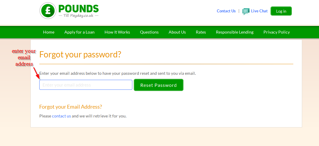 reset password 2