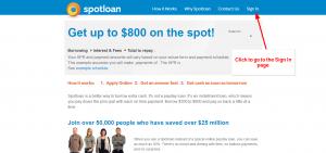 Spot Loan Sign In