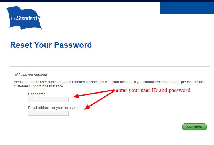 standard-reset-password
