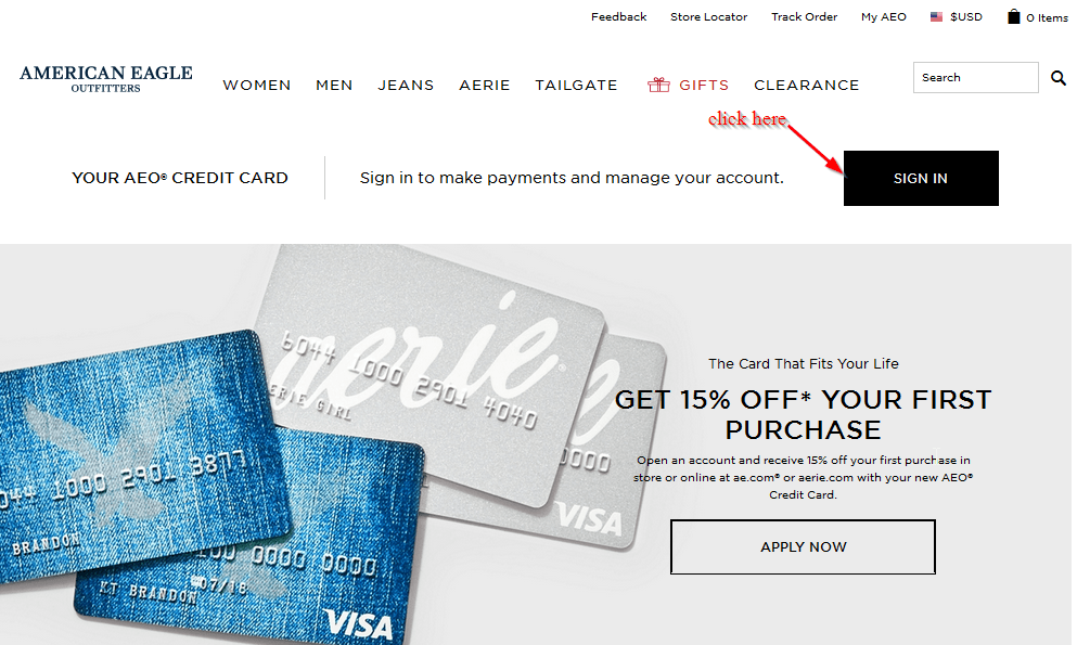 American Eagle Credit Card Login >> American Eagle Credit Card Online Login Cc Bank