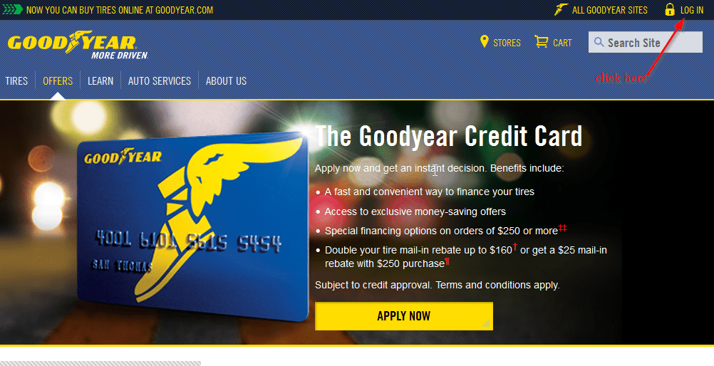 Goodyear Credit Card Online