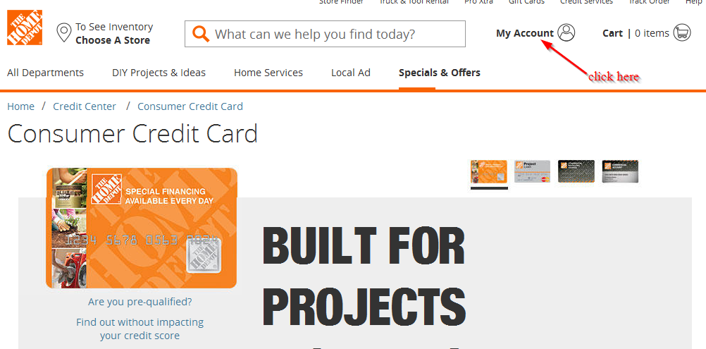 Home Depot Credit Card Online