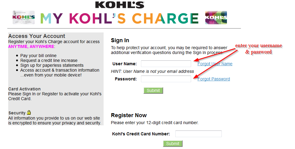 Kohl's Credit Card Online Login - CC Bank