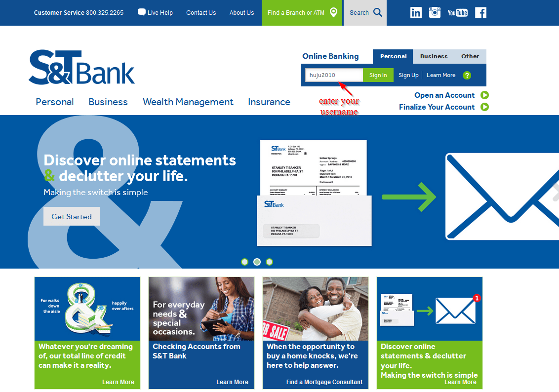 S&T Bank Online Banking Login - CC Bank