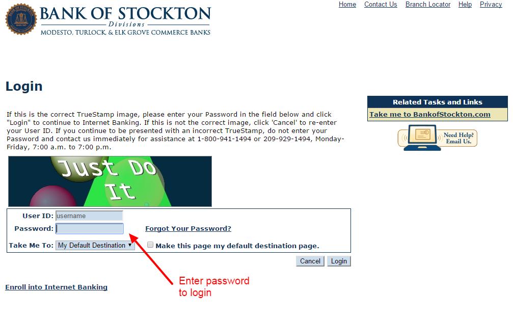 stockton log in 2