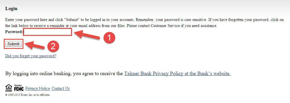 talmer-password-login-page