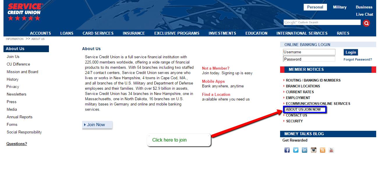Service Credit Union Online Banking Login Cc Bank